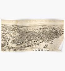 Panoramic Maps Newburgh NY Poster