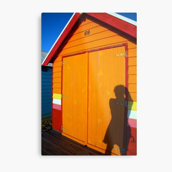 Beach Box and Me Metal Print