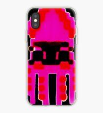 SQUIDOO pink stencil iPhone Case
