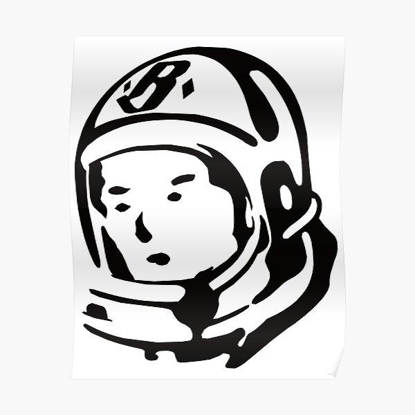 Pharrell Williams' Billionaire Boys Club Spaceman Helmet Logo T-Shirt Poster