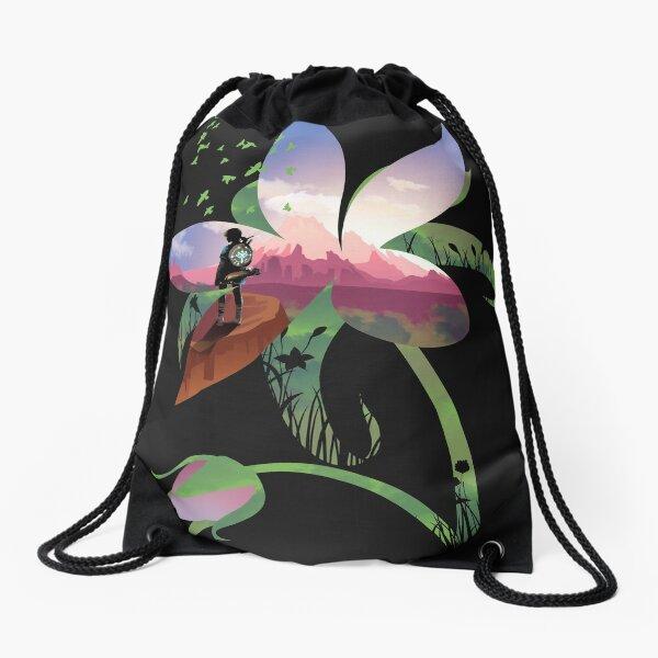 Wild Flower Drawstring Bag