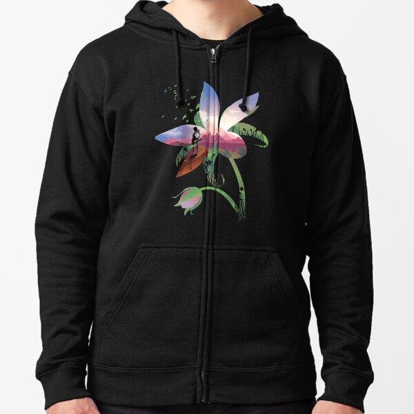Wilde Blume Kapuzenjacke