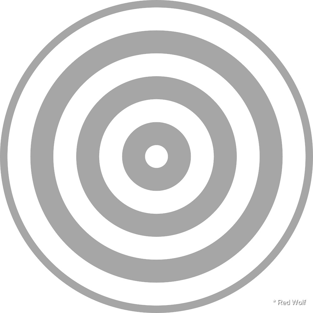Geometric Pattern: Rondel: White Silver by * Red Wolf