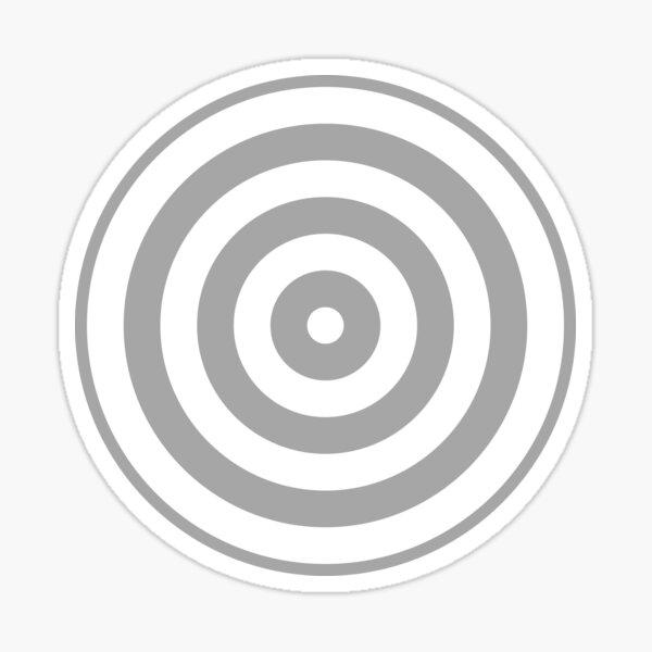 Geometric Pattern: Rondel: White Silver Sticker