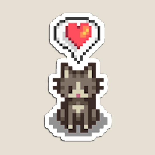 Stardew Valley Happy Grey Cat Magnet