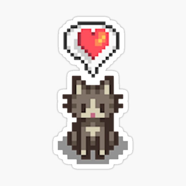 Stardew Valley Happy Grey Cat Sticker