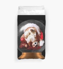 Christmas Teddy Snow Globe Duvet Cover