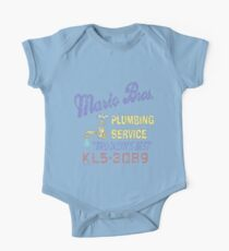 Mario Brothers Plumbing One Piece - Short Sleeve