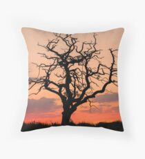 Sunset Tree Throw Pillow