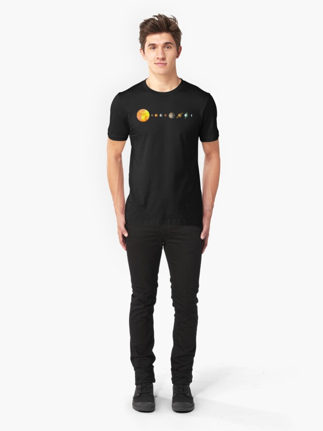 Alternate view of The Solar System Slim Fit T-Shirt