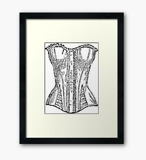 Vintage Corset Illustration Framed Print
