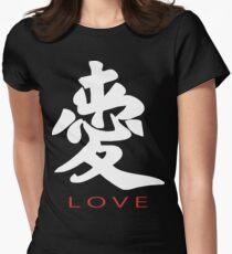 fcd259f9a9e6 Symbole chinois pour l amour t-shirt T-shirt col V femme