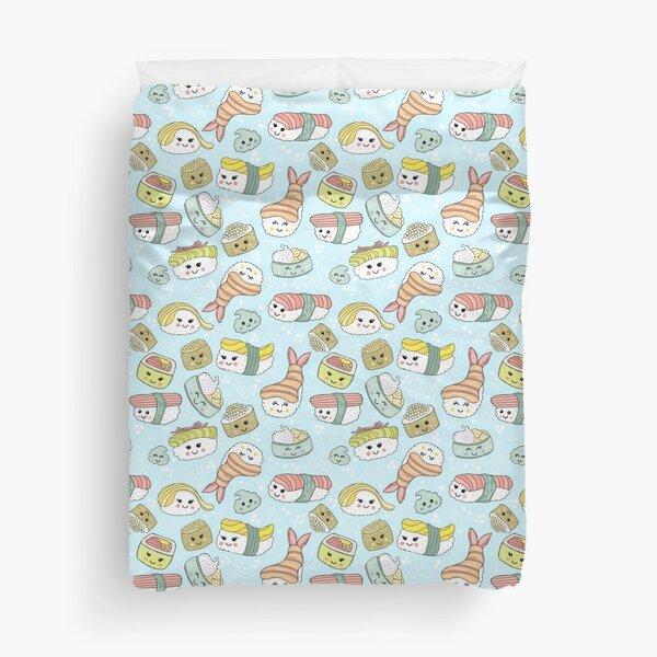 Kawaii Sushi Duvet Cover