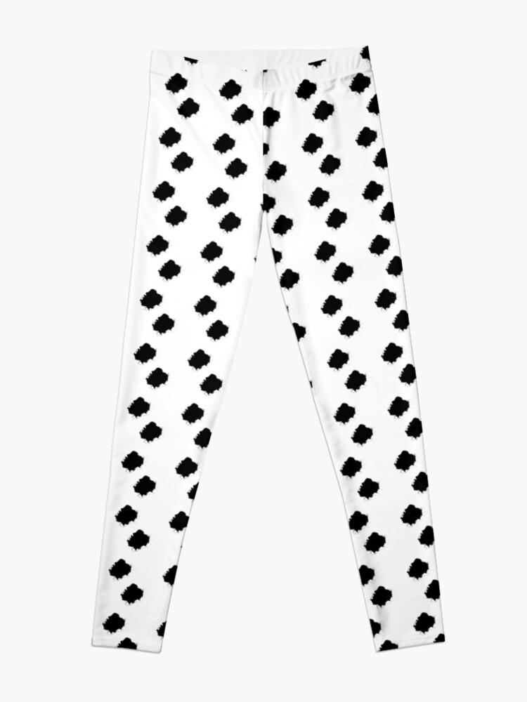 Alternate view of Marko Style Design patterns Black And White Leggings