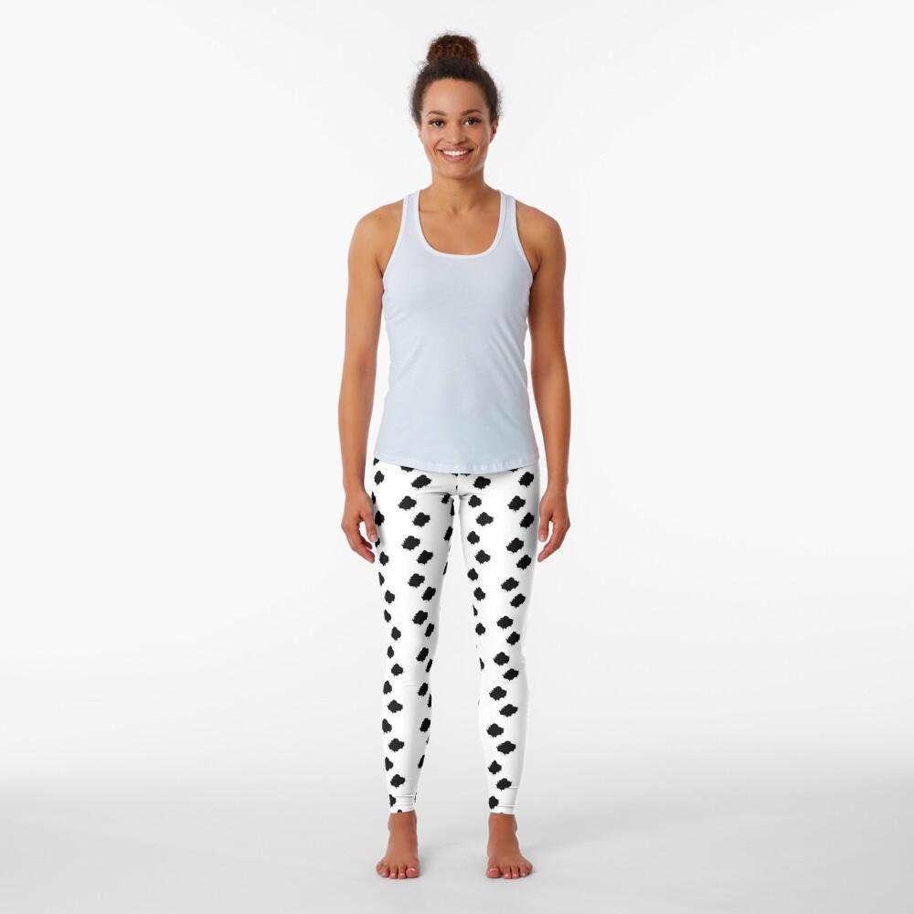 Marko Style Design patterns Black And White Leggings