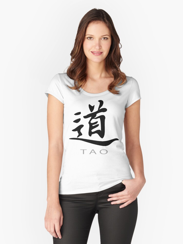 Chinese Symbol For Tao T Shirt Womens Fitted Scoop T Shirt By