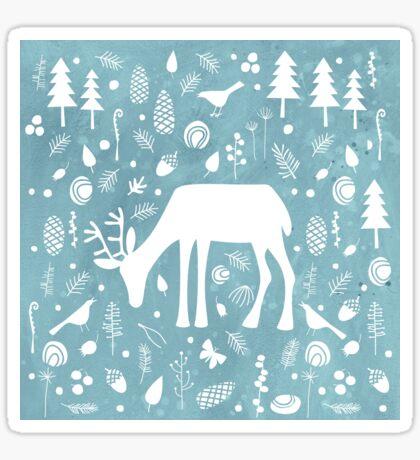 Deer in the Woods Sticker