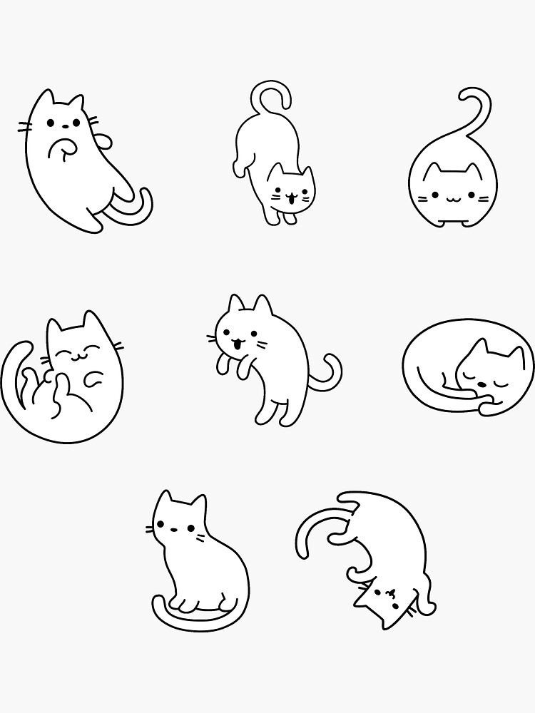 Black White Cat Pack by sifasunny