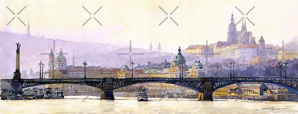 Prague Panorama Cechuv Bridge variant  by Yuriy Shevchuk