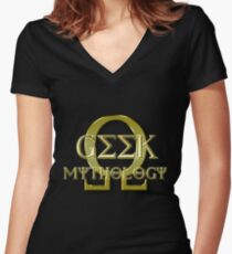Geek Mythology Women's Fitted V-Neck T-Shirt
