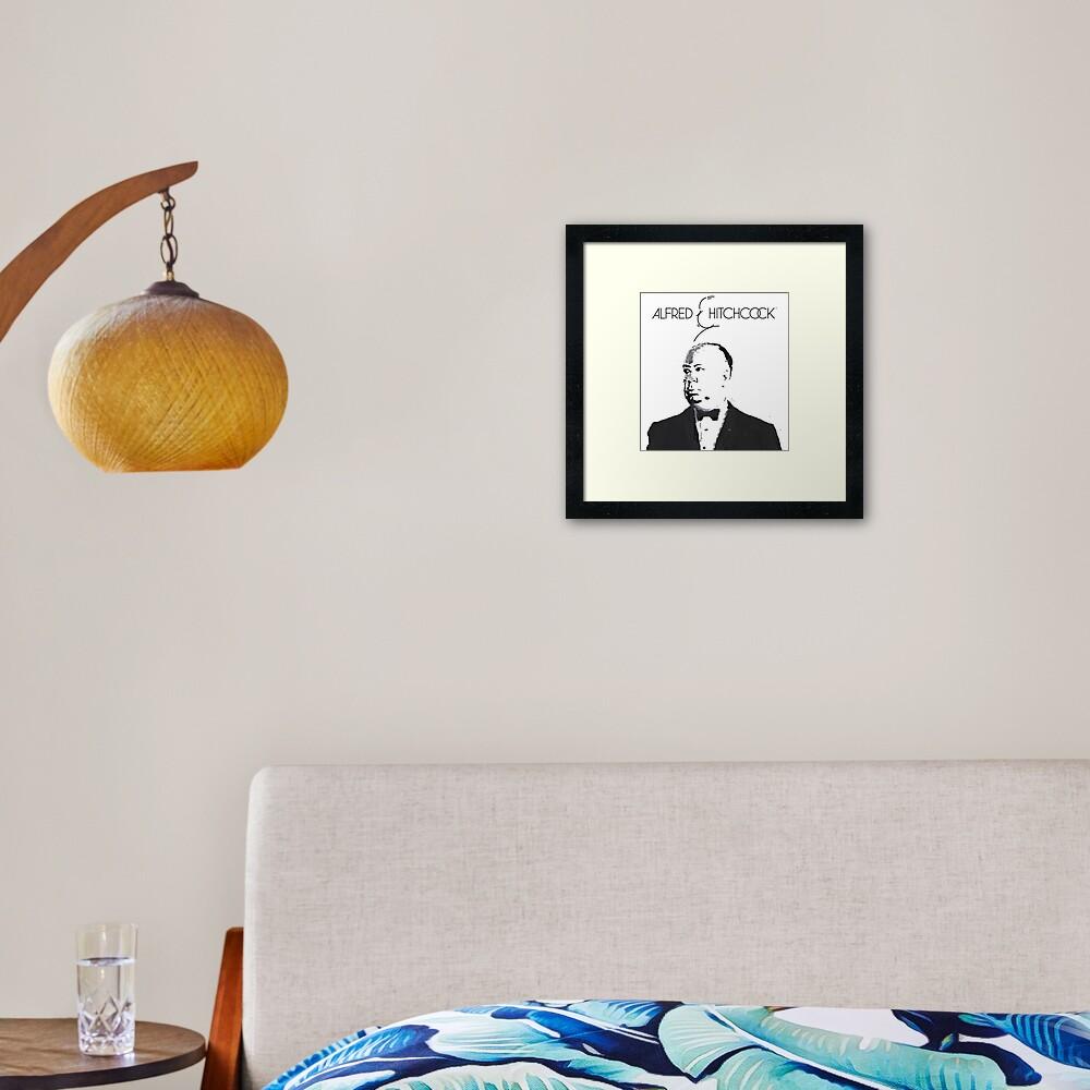Alfred Hitchcock - Fan Art III Framed Art Print