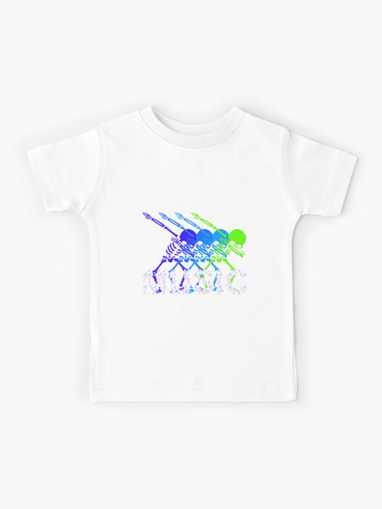 Halloween 2020 Dancing Kid 4 Colorful Green And Blue Skeleton Dabbing And Dancing on Music