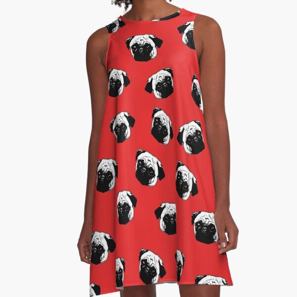 Pug dog pattern A-Line Dress