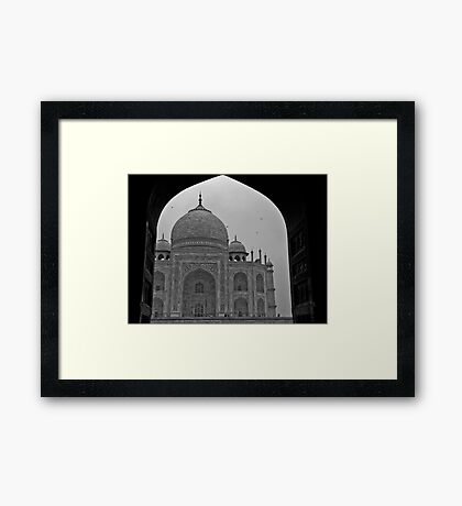 Archway to the Taj Mahal Framed Print