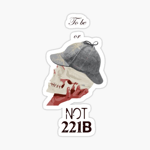 Sherlock/Hamlet Sticker