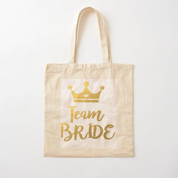 Team Bride Cotton Tote Bag
