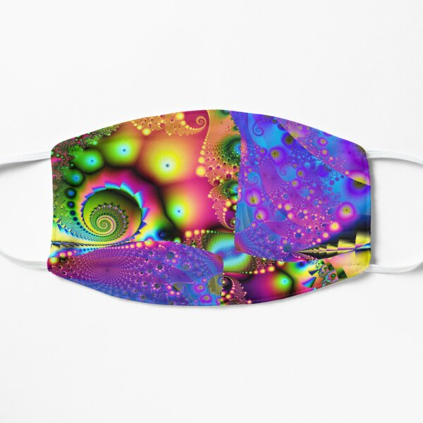 Psychedelic Rainbow Fractal Mask