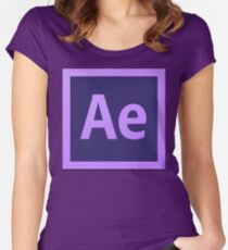 After Effect  CS6 Logo Women's Fitted Scoop T-Shirt