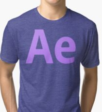 After Effects CS6 Letters Tri-blend T-Shirt