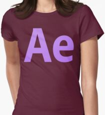 After Effects CS6 Letters Women's Fitted T-Shirt
