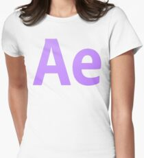 After Effects CS6 Letters Womens Fitted T-Shirt