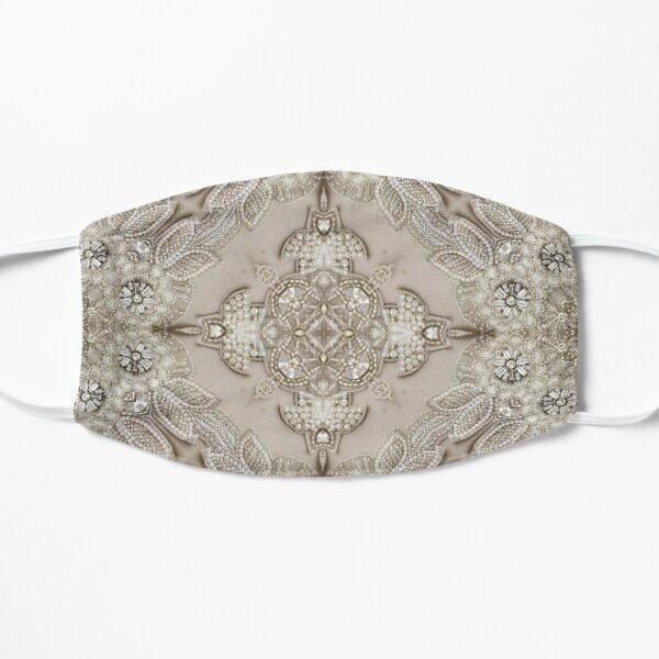 Vintage strass perle dentelle beige glamour Masque sans plis