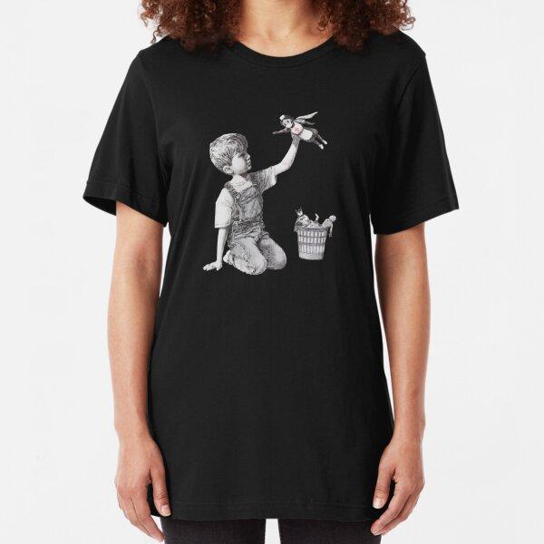 Heroes - Banksy Slim Fit T-Shirt