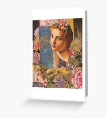 With Fowers Greeting Card
