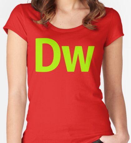 DreamWeaver CS6 Letters Women's Fitted Scoop T-Shirt