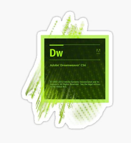 DreamWeaver CS6 Splash Screen Sticker