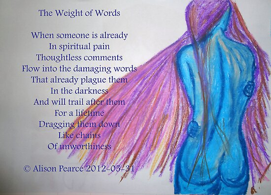 The Weight of Words by Alison Pearce