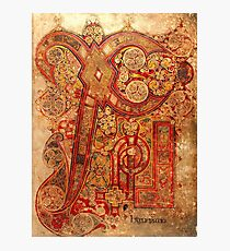 Page from the Book of Kells Photographic Print
