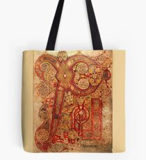 Page from the Book of Kells Tote Bag
