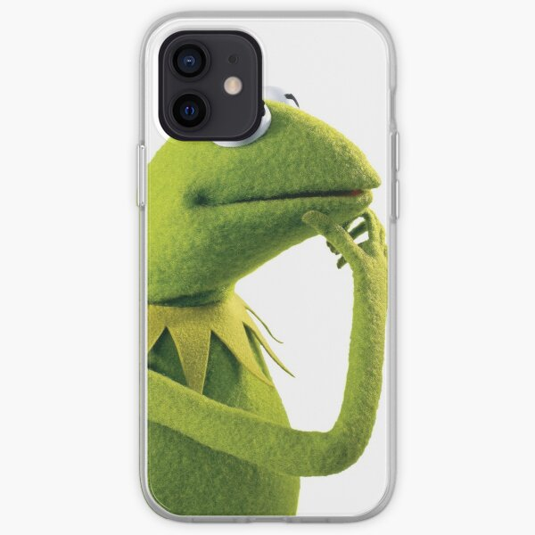 Kermit Contemplating, an aesthetic iPhone Soft Case