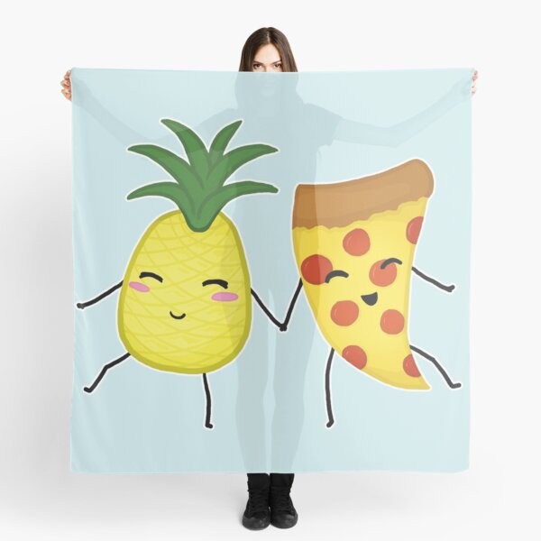 Pineapple + Pizza Scarf