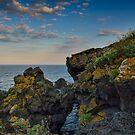 A rocky seascape by Andrea Rapisarda