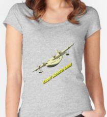 Short Sunderland Flying Boat WWII T-shirt & leggings Women's Fitted Scoop T-Shirt