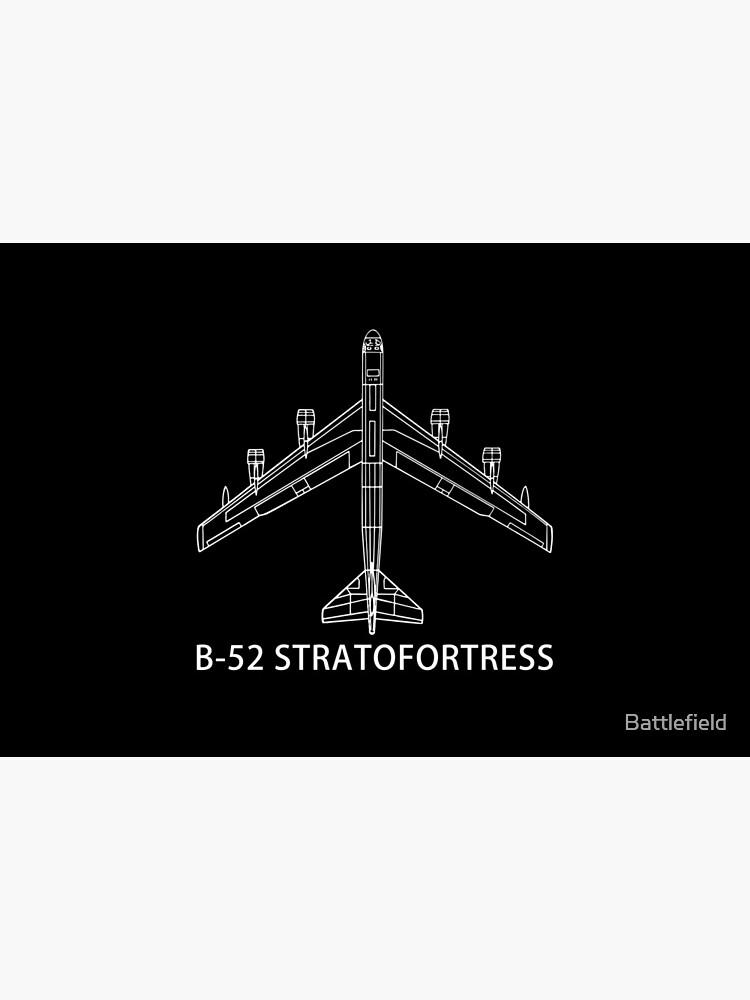 B-52 Stratofortress Bomber Plane Gift Schematic Blueprint by Battlefield