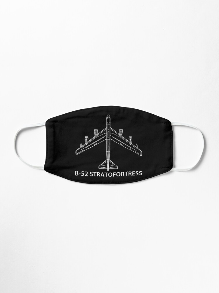 Alternate view of B-52 Stratofortress Bomber Plane Gift Schematic Blueprint Mask
