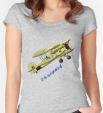 British WWII Swordfish Biplane T-shirt and leggings Women's Fitted Scoop T-Shirt